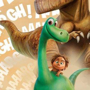 Ręcznik dziecięcy Dobry Dinozaur 70×140