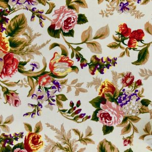 bawełna-róże-gruba