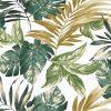 tkanina-dekoracyjna-liście-zielona
