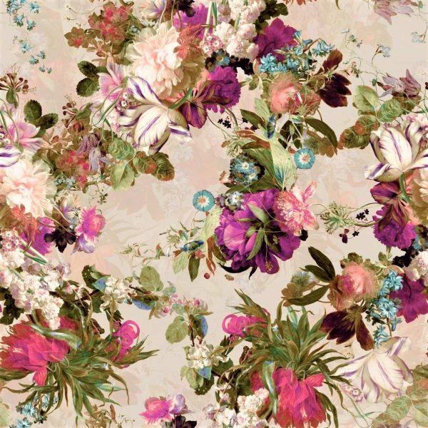 tkanina-kwiatowa-velluto-róż